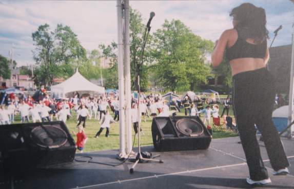 Cia Tweel at Relay for Life 2004