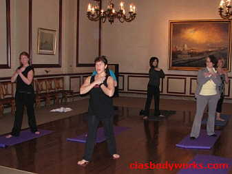 Cia Tweel teaches Halifax Club Yoga