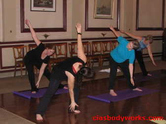 Cia Tweel teaches Halifax Club Yoga 2
